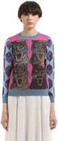 Gucci Lurex Intarsia & Jacquard Knit Sweater