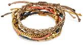 "Wakami Women's Bracelet 7 Strands- Peach (7.5"")"