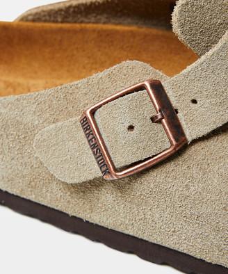 Birkenstock Boston Suede Leather Sandal Taupe