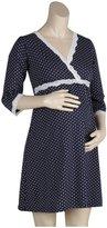 Belabumbum Dottie Kimono Dress - Navy Dot-X-Large