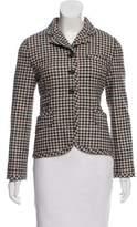 Miu Miu Wool Houndstooth Knit Jacket