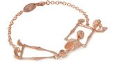 Vivienne Westwood Anglomania Skeleton Bracelet in Rose Gold