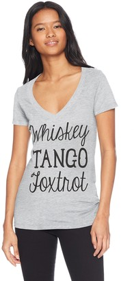 Fifth Sun Junior's Sassy Text Graphic V-Neck Tees
