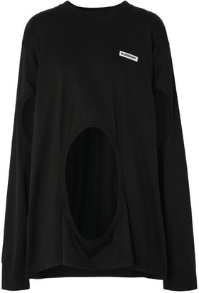 Burberry Oversized Cut-Out Detail Top