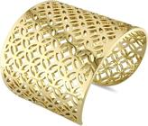 Catherine Malandrino 18K Gold-Plated Sterling Silver Lattice Wide Cuff Bracelet