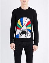 Saint Laurent Shark Intarsia-knit Wool Jumper
