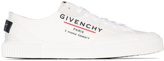 Givenchy logo print low-top sneakers