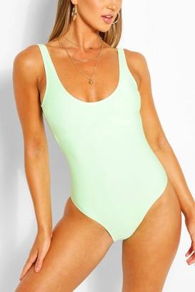 boohoo Scoop Back Swimsuit
