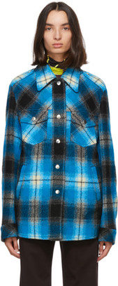 Dries Van Noten Blue Check Jacket