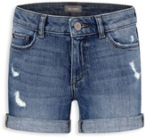 DL1961 Premium Denim Little Girl's Distressed Cuffed Denim Shorts