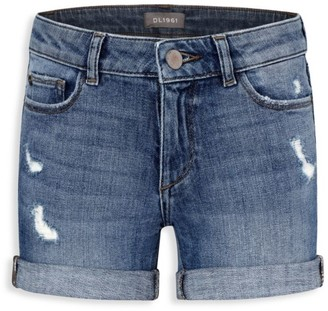 DL1961 Little Girl's & Girl's Distressed Cuffed Denim Shorts