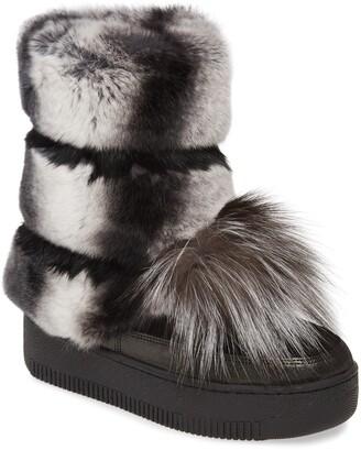 Sheridan Mia Tallulah Genuine Rabbit & Genuine Fox Fur Boot