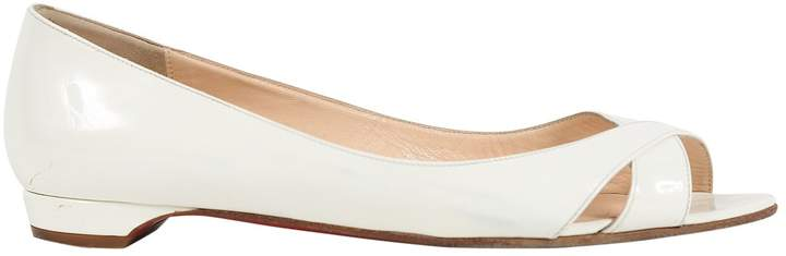 Christian Louboutin White Patent leather Flats