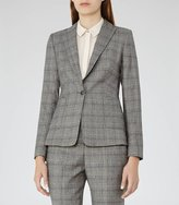 Reiss Musk Jacket Checked Tailored Blazer