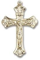Blissliving Home Fleur de Lis 14K Rosary Crucifix