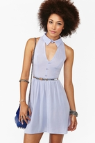 Nasty Gal Plunging Cutout Dress - Lilac