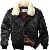 Avirex fly jacket fur collar genuine leather jacket men sheepskin coat men winter bomber jacket men
