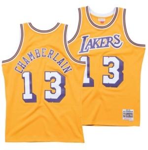 Mitchell & Ness Men's Wilt Chamberlain Los Angeles Lakers Hardwood Classic Swingman Jersey