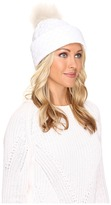 UGG Quilted Fabric Hat w/ Pom