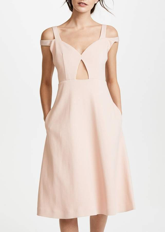Carven Off Shoulder Dress Blush