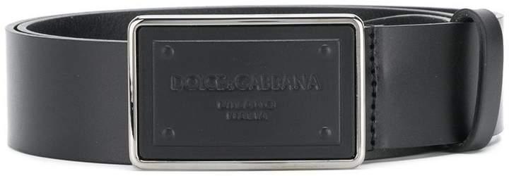 Dolce & Gabbana brand embossed belt