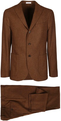 Boglioli Brown Virgin Wool Two-piece Suit