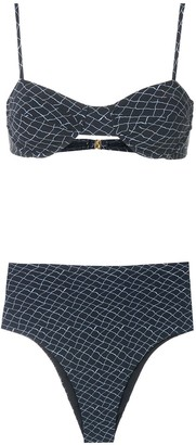 ESC print Estruturado bikini set