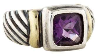 David Yurman Amethyst Noblesse Cable Ring