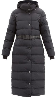 Burberry Eppingham Belted Quilted Down Coat - Black