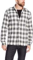 Threads 4 Thought Men's Sherpa Lined Plaid Shirt Jacket, White/Grey