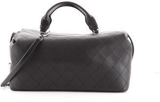 Chanel Convertible Chain Bowling Bag Quilted Calfskin Large