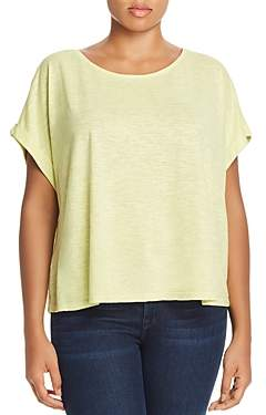 Eileen Fisher Plus Cropped Boxy Tee