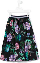 Young Versace - floral print skirt - kids - Cotton - 4 yrs