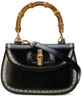 Gucci Bamboo frame print top handle bag