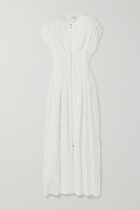 The Row Tamy Cloque Maxi Dress - Off-white