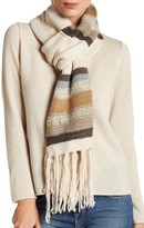 Rampage Striped Fringe Scarf