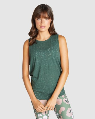 Rockwear - Women's Green Singlets - Wanderlust Burnout Singlet - Size One Size, 6 at The Iconic