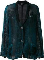 Avant Toi tweed blazer - women - Cotton/Linen/Flax - L