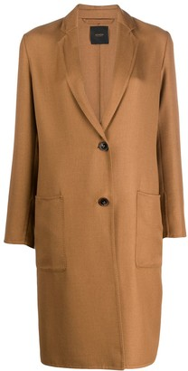 Agnona Fitted Single-Breasted Coat