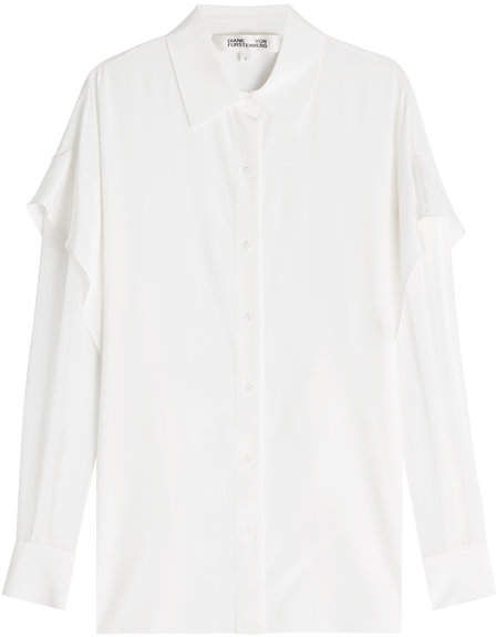 Diane von Furstenberg Silk Blouse with Ruffles