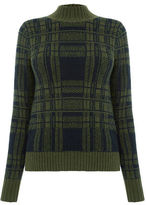 """Oasis STATEMENT CHECK JUMPER [span class=""""variation_color_heading""""]- Khaki[/span]"""
