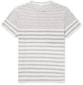 Orlebar Brown Sammy Striped Cotton-jersey T-shirt - Gray