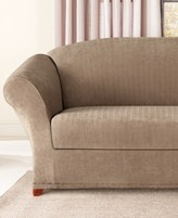 Sure Fit Stretch Pinstripe 2-Piece Sofa Slipcover