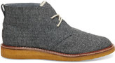 Toms The Hill-Side Grey Herringbone Tweed Men's Mateo Chukka Boots