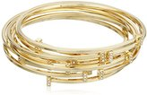 Vince Camuto Minimal Pave Gold/Crystal Bangle Bracelet