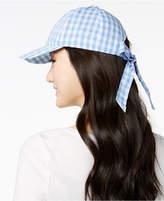 INC International Concepts I.n.c. Gingham Bow-Back Baseball Cap, Created for Macy's