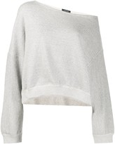 R 13 off-the-shoulder sweatshirt