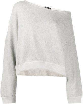 R 13 off-the-shoulder sweatshirt