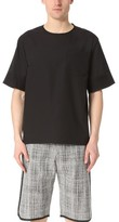 3.1 Phillip Lim Box Cut Tech Tee with Trapunto Stitching