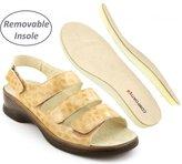 Comfortiya Women's Brenda Crocodile Leather Casual Slingback Sandal Size 39 B (M) EU